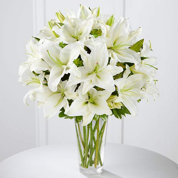 The Spirited Grace Lily Bouquet By Ftd Vase Included