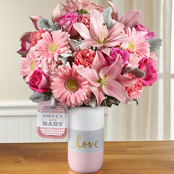 The sweet baby girl bouquet by hallmark judy 39 s village Hallmark flowers