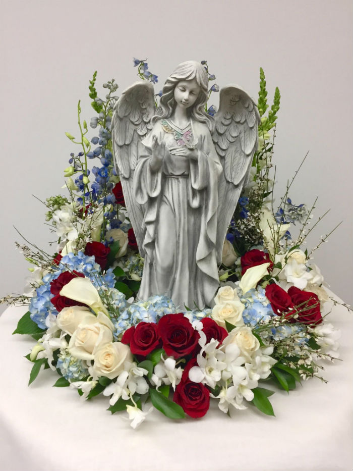 Guardian Angel in Red, White and Blue | Judy's Village Flowers