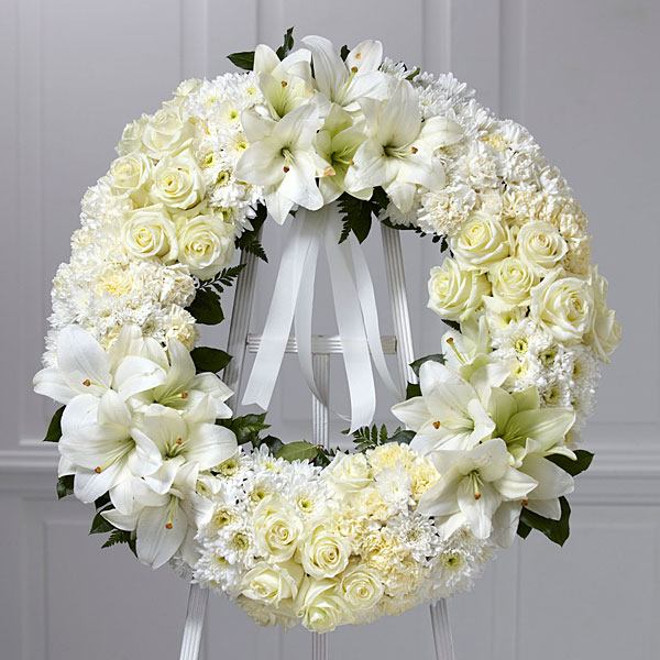 The Wreath Of Remembrance White Ribbon Judy S Village